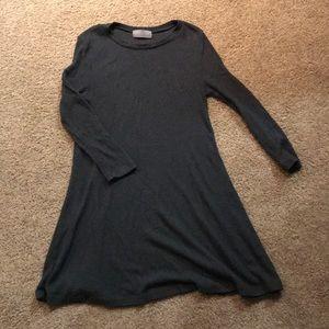Knit long sleeve dress